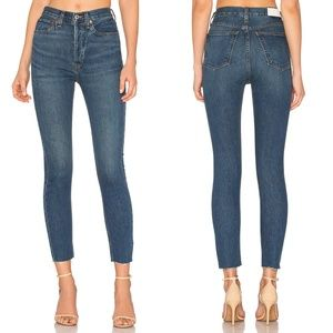 NEW Re/Done Originals High Rise Ankle Crop Jeans
